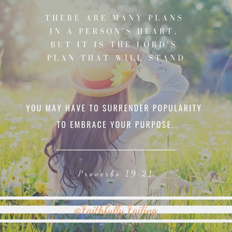 Surrender your popularity and embrace your purpose