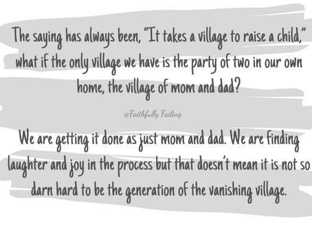 Generation of the vanishing village
