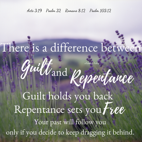 There is a difference between guilt and repentance.