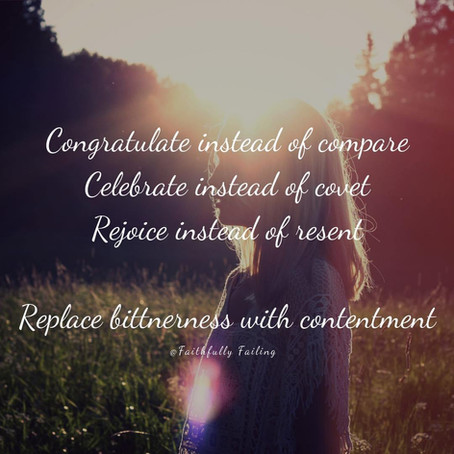 Celebrate instead of covet