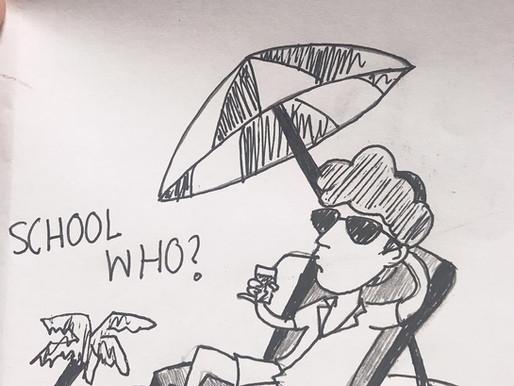 Cartoon: Senior Beach Day