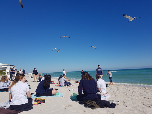 Students Spend Lunch on the Beach