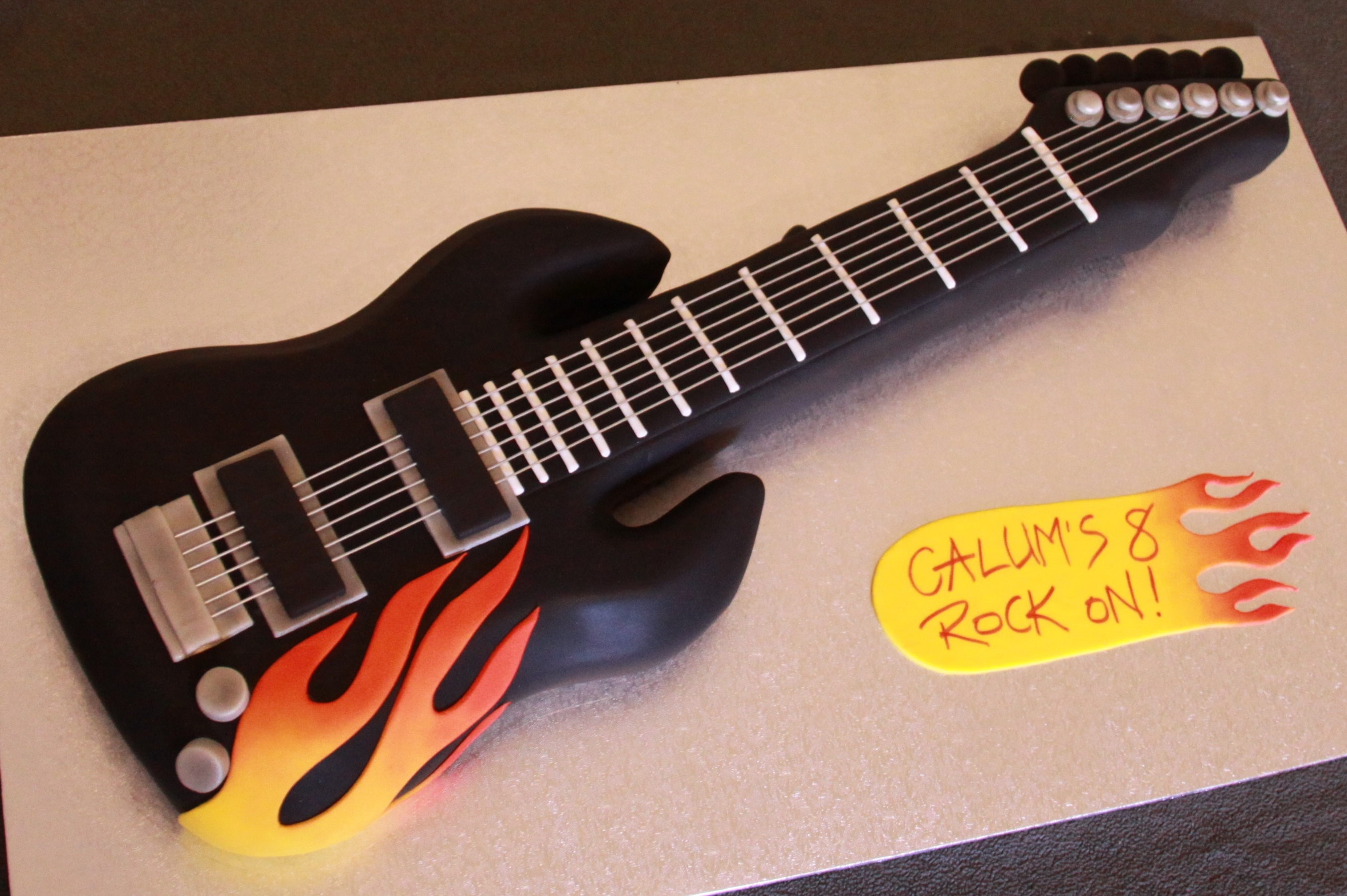 Black Flame Guitar