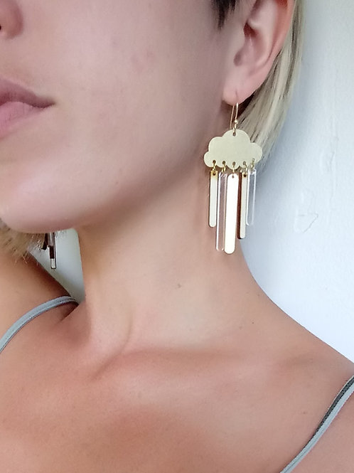 Acrylic Jewelry - Cloudy With A Chance of Rain...Or Storms - Dangle Earring