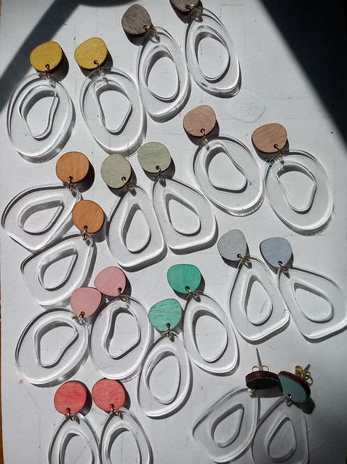 Wood Jewelry - Clear Organics - Modern Earring