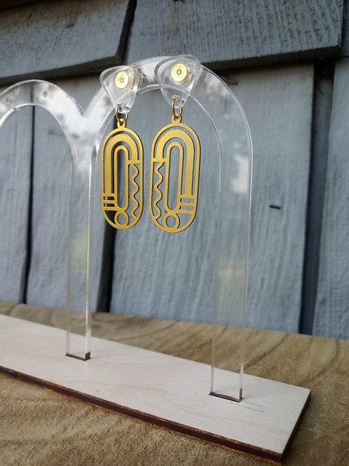 Acrylic Jewelry - Art Deco Ovals - Modern Earring