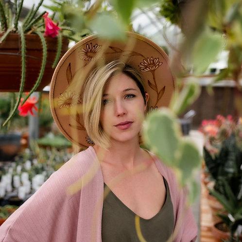 Daisy Chain - Rancher Style - Camel Felt Hat
