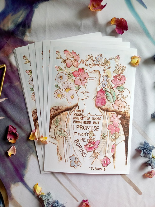Art Print -Signed Series - David Bowie - Quote