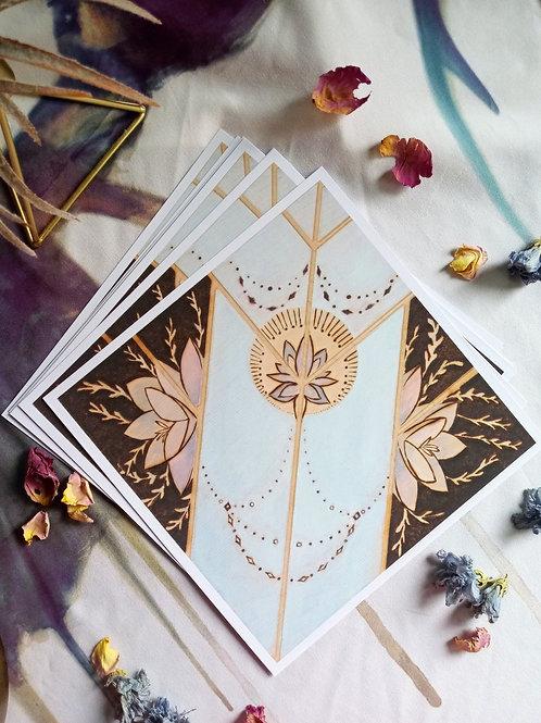 Art Print - Signed Series - Crystal +Succulent Wood burned Print