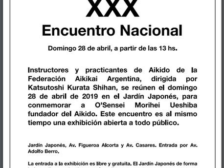 XXX Encuentro Nacional de Aikido - 28 de Abril
