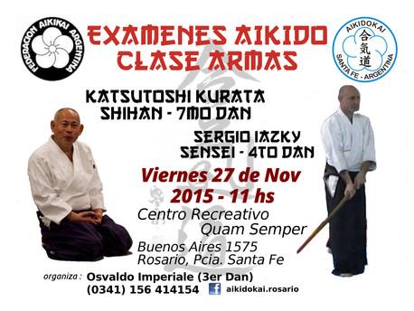 27 de Noviembre - Exámenes de Aikido y Clase de Armas - Rosario, Sta. Fe.