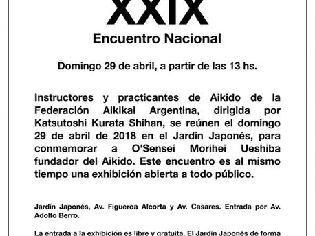 29 de Abril - Encuentro Nacional de Aikido XXIX
