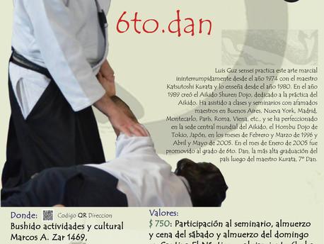 26 y 27 de Septiembre - Seminario Luis Guz, 6to Dan. En Puerto Madryn