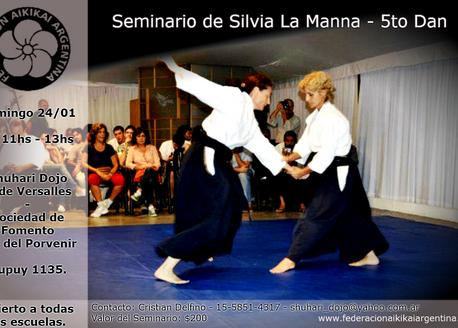 24 de Enero - Seminario Silvia La Manna. 5to Dan