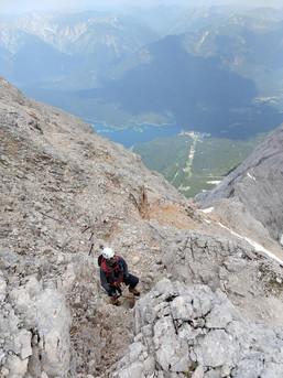 Nur noch ein paar Meter bis zum Gipfel - Zugspitze