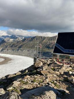 Ein futuristischer Bau - die großartige Monte Rosa Hütte