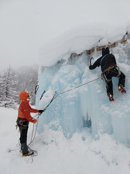Eiskletter- Boulderwand
