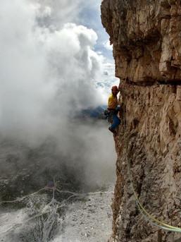 Fotogener Quergang in den Dolomiten