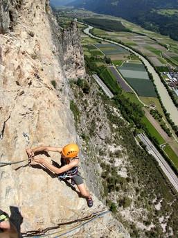Klettern an der Geierwand im Inntal