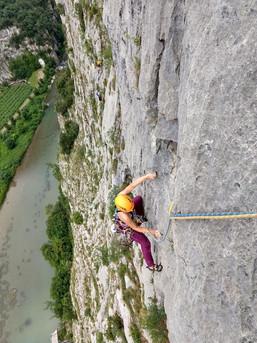 Klettern im Sarcatal macht immer Spaß