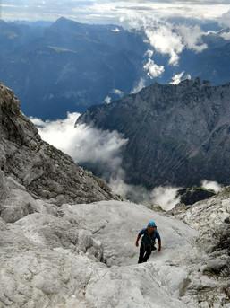 Ausgewaschener Fels in den Berchtesgadener Bergen