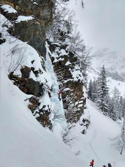 Geniales Ambiente beim Eisklettern im Rauriser Tal