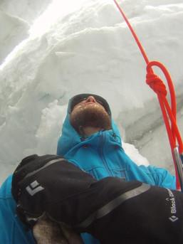 Nass und kalt wirds hier in der Gletscherspalte