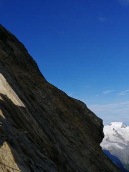 Steiler Grat im Wallis