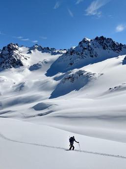 Die Silvretta ist bekannt für traumhaftes Skigelände