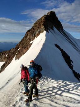 Gehen am Firngrat und dann Klettern - Zufallspitze