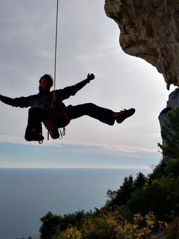 Klettern direkt über Monaco