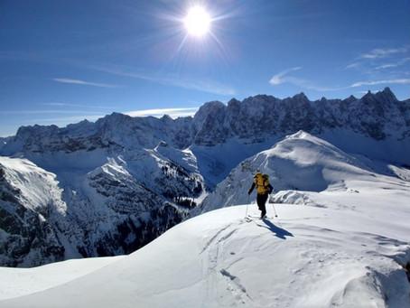 Wilde Kulisse, zahme Skitour - der Steinfalk Skigipfel im Karwendel