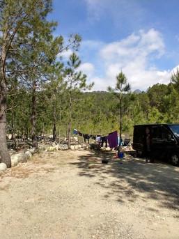 Schöner Campingplatz auf Korsika