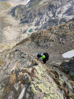 Klettersteig am Sustenpass in der Schweiz