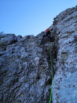 Harakiri- Leiter in der Eisenzeit an der Zugspitze