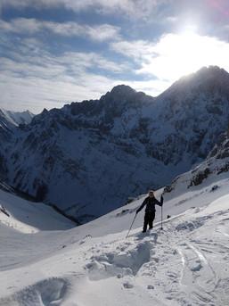 Auf den letzten Metern der Tortal- Rontal Runde im Karwendel