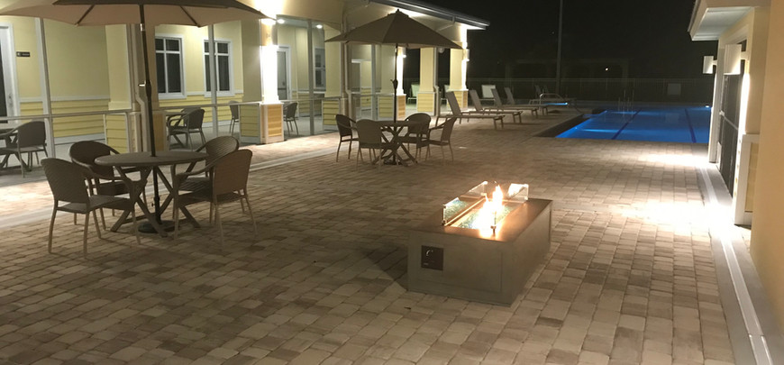 Pool Patio with Fire Pit