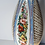 Thumbnail: Tall Late 19thc Bohemian Glass Vase with painted Panel Decoration