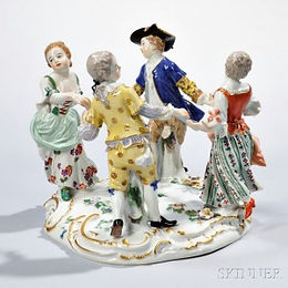 meissen-porcelain-dancing-figural-group.