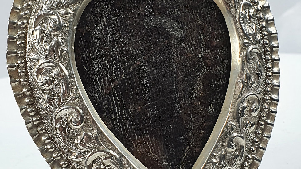 Hallmarked Silver Heart Shaped Frame c1920