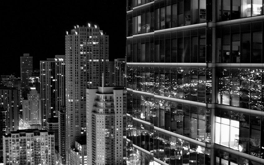 Ночной город фотография