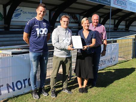 Sparekassens Gavefond donerer 250.000 kr. til boldklubben