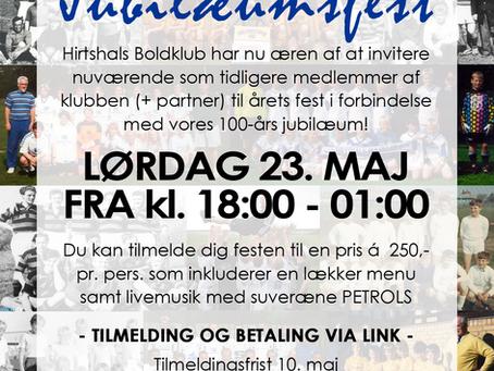 Invitation til 100-årsfesten