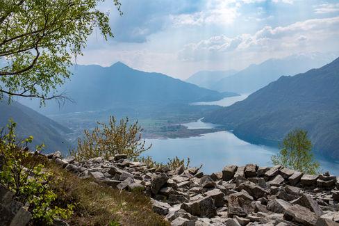Blick auf den Lago di Mezzola