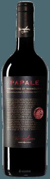 """""""Papale"""" Primitivo di Manduria - Varvaglione 0,75LT"""