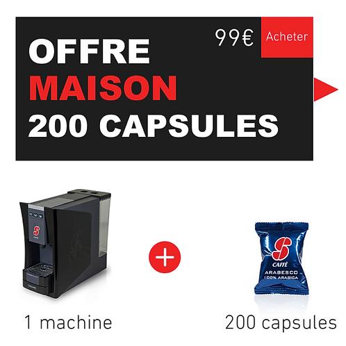 Offre MAISON - 1 machine + 200 Capsules (choix par e-mail)