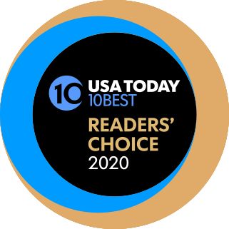 USA Today 10-Best Readers' Choice 2020 logo