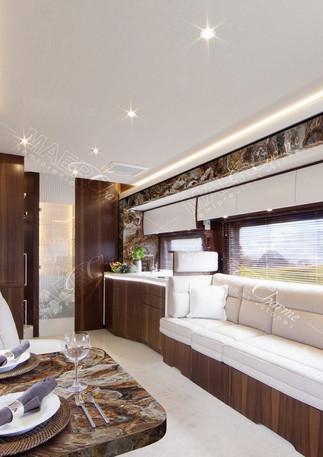 petrified wood brown on luxury Motor Hom