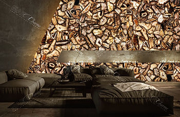 agate pheonix giant decorativ wall backl