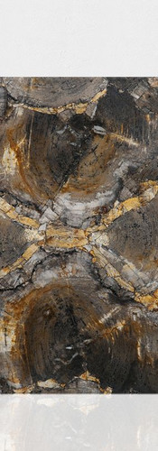 petrified wood brown-grey design butterf